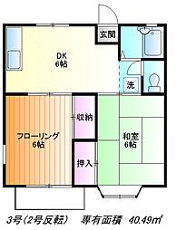 関戸クレスト[202号室]の間取り