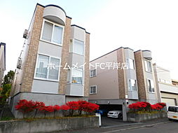 北海道札幌市豊平区平岸一条16丁目の賃貸アパートの外観