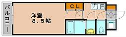 ピュアドームパラジオ博多[5階]の間取り