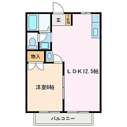 ガーデンハイム上川 B棟[1階]の間取り