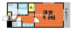 JR山陽本線 中庄駅 徒歩17分の賃貸マンション 4階1Kの間取り
