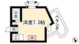 愛知県名古屋市守山区森孝2丁目の賃貸マンションの間取り