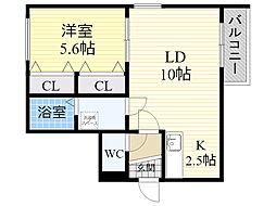 RS4−5[403号室]の間取り