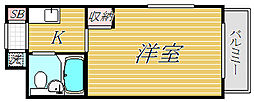 TOP・鐘ヶ淵第1[5階]の間取り
