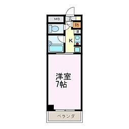 スプリングイセヤマ[4階]の間取り