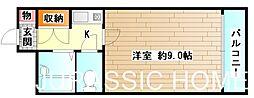 大阪府堺市堺区竜神橋町2丁の賃貸マンションの間取り