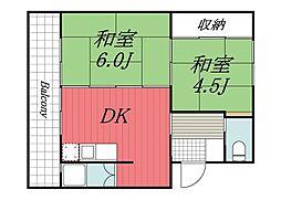 千葉県成田市吾妻2丁目の賃貸マンションの間取り