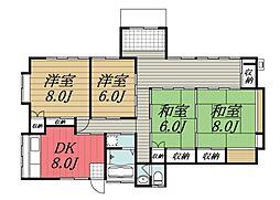 [一戸建] 千葉県八街市八街に の賃貸【/】の間取り