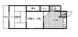 ミキハウス住吉[2階]の間取り