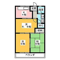 ファインシティ小川 C[2階]の間取り