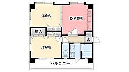 さくら夙川[3A号室]の間取り
