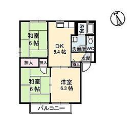 ピアソラ[2階]の間取り