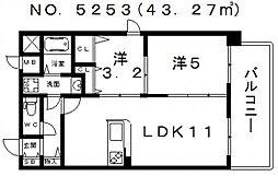 アール・オーハイム松崎町[2階]の間取り