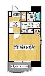 ドゥエリング桜川[401号室号室]の間取り