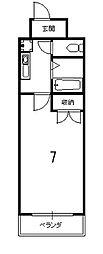 京卓ハイツ[101号室]の間取り