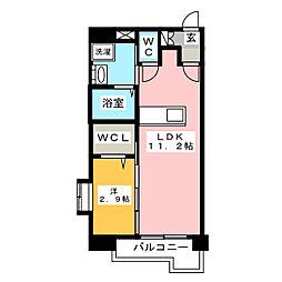 メゾン・ド・ラヴィス[4階]の間取り