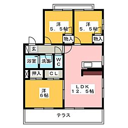 フレグランス尾崎[2階]の間取り