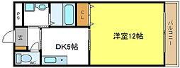 ビッグルーム平野[3階]の間取り