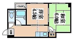 サンシャトー俊徳[3階]の間取り