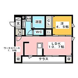 仮)D-room東脇町 1階1LDKの間取り