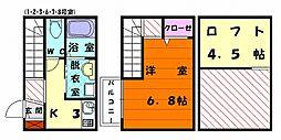 ベラミ松香台[2階]の間取り