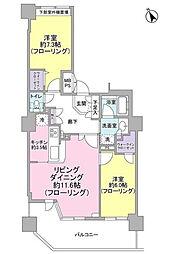 シルエタワーヨコハマ[4階]の間取り