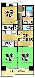 大阪府大阪市此花区高見1丁目の賃貸マンションの間取り