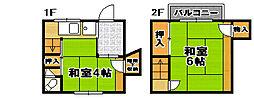 [一戸建] 大阪府大阪市此花区高見2丁目 の賃貸【/】の間取り