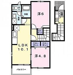 コータ・コート B[2階]の間取り