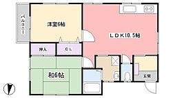 三橋ハウス[201号室]の間取り