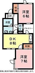 上島コモンコートC[2階]の間取り