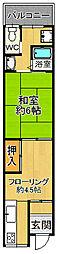 [テラスハウス] 兵庫県尼崎市長洲中通3丁目 の賃貸【/】の間取り