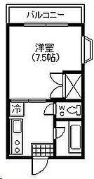 第10シャトーモリオカ[202号室]の間取り
