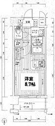 クレアート新大阪パンループ[10階]の間取り