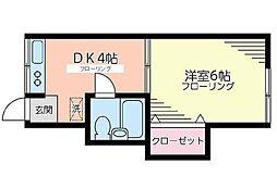 広瀬アパート[0102号室]の間取り