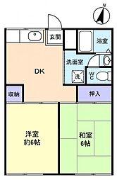 成江ビレッジ[1階]の間取り