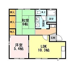 静岡県御殿場市萩原の賃貸アパートの間取り