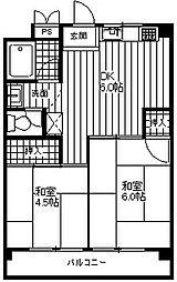 矢澤ハイツ[301号室]の間取り