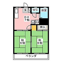 シティ中村[2階]の間取り