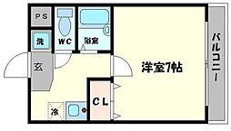 ウェルフェアーII[4階]の間取り