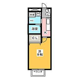 クリスタルスレェン[1階]の間取り