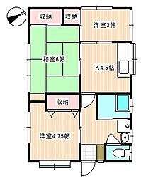 [一戸建] 山口県下関市横野町4丁目 の賃貸【/】の間取り