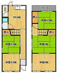 [一戸建] 兵庫県神戸市北区鈴蘭台南町1丁目 の賃貸【/】の間取り