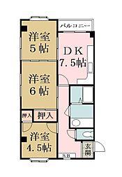 秋山マンション[203号室]の間取り