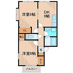フォレスタ鎌倉[2階]の間取り
