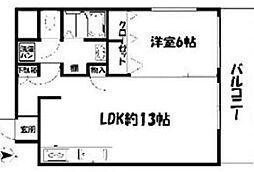大濠クレセントマンション[1階]の間取り