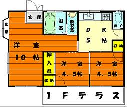 [テラスハウス] 福岡県福岡市東区香住ケ丘6丁目 の賃貸【/】の間取り