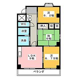 パストラーレ弐番館[3階]の間取り