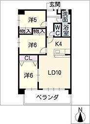 アネックス井口[2階]の間取り