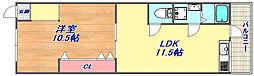 寺口マンション[105号室]の間取り